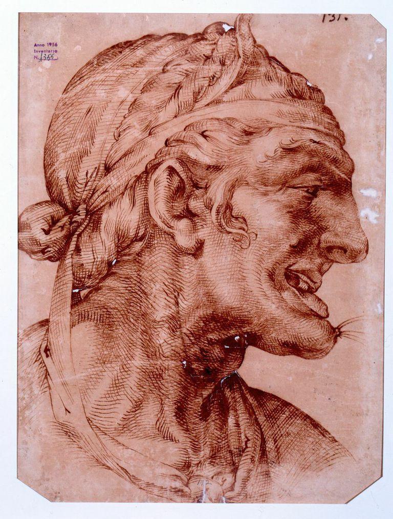 Bartolomeo  Passerotti Ritratto di vecchia disegno su carta/ inchiostro e penna,  474 x 357 mm  © Galleria Estense, Modena