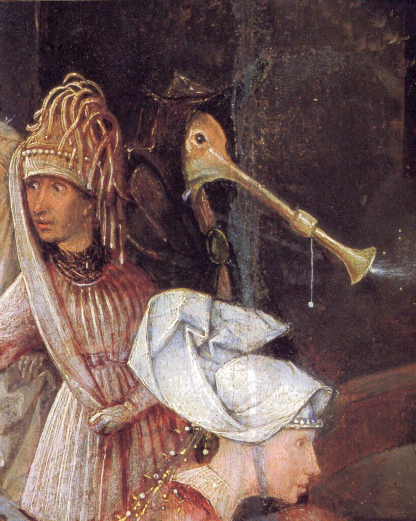 Hieronymus Bosch, Tentazioni di sant'Antonio, particolare