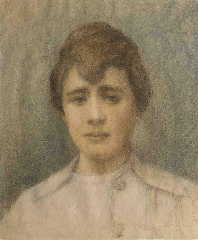 Domenico Baccarini, Ritratto di giovane donna