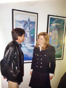 Lorella Facchetti con Gianni Morandi