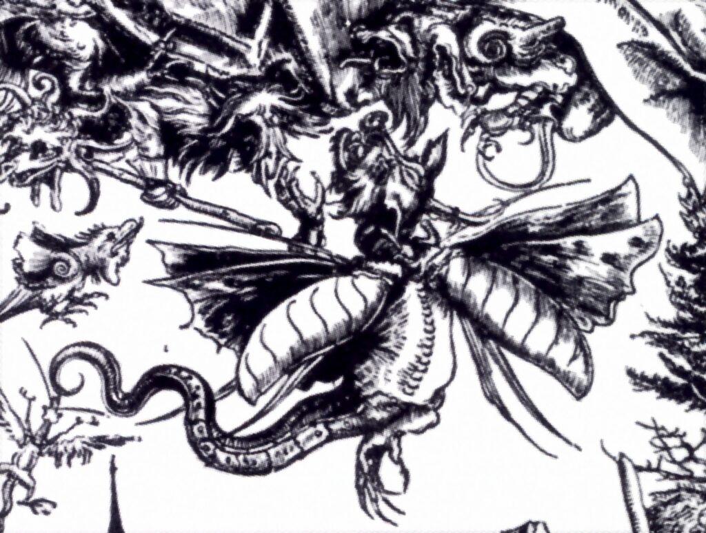 Lucas Cranach, Tentazioni di sant'Antonio, particolare