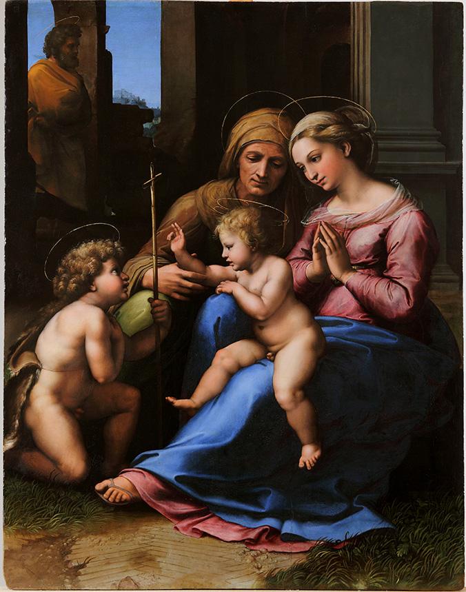 Raffaello Sanzio  Madonna del Divino Amore  Napoli, Museo di Capodimonte, Collezione Farnese  Olio su tavola - cm. 140 x 109