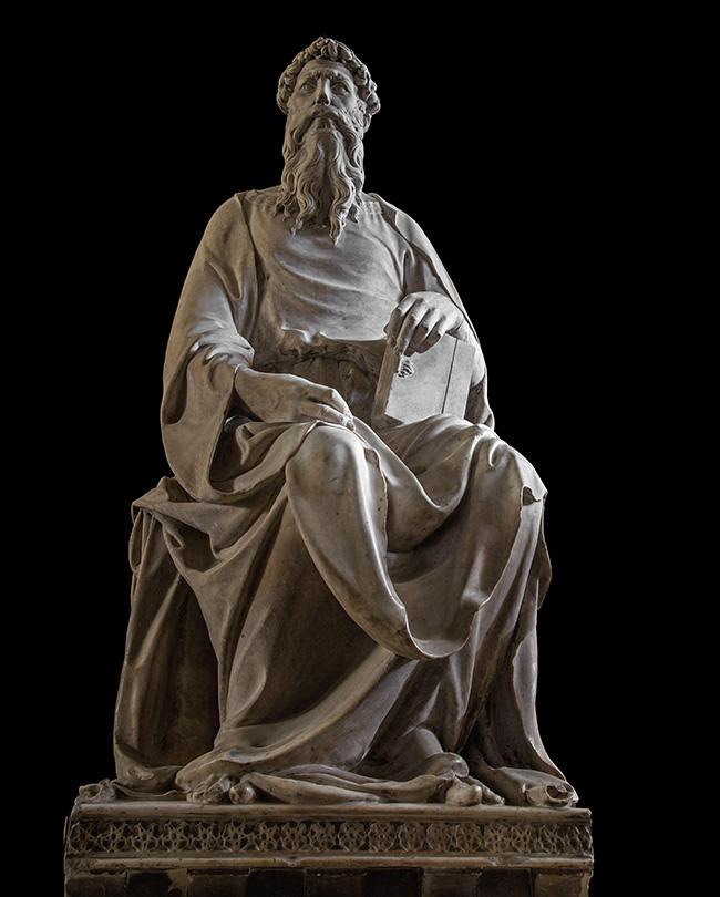 Museo dell'Opera del Duomo di Firenze, Donatello, San Giovanni Evangelista, courtesy Opera di Santa Maria del Fiore, foto Antonio Quattrone
