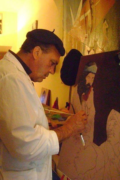 """Francesco Ascione detto """"pennelletto"""" - ultimo pezzo in progress- Isis ,70x100 cm, olio su tela"""