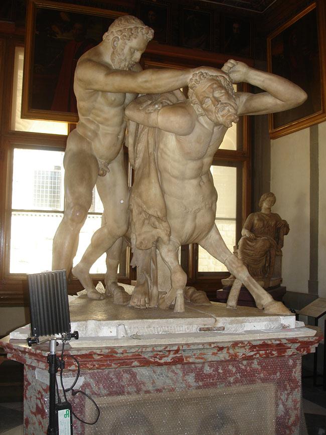 Restauro Ercole e il centauro 1