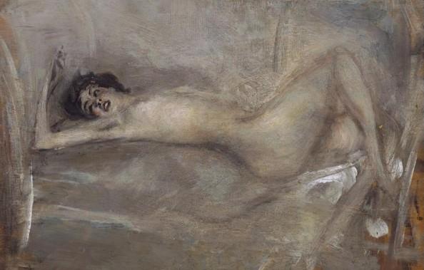 boldini eros nudo di donna in grigio