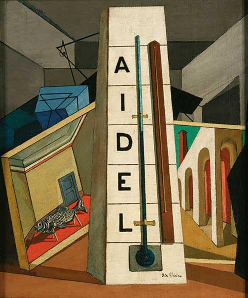 Giorgio de Chirico Le rêve de Tobie (Il sogno di Tobia), aprile-agosto 1917 Olio su tela, cm 58,5 x 48  Collezione privata