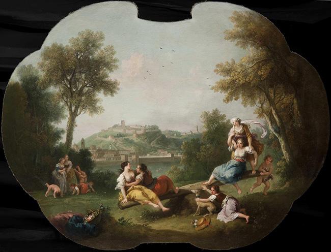 Sala dello Zuccarelli, Francesco Zuccarelli, La Rocca di Arona