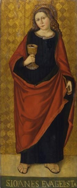 Martino da Gavardo, San Giovanni evangelista, olio su tavola, Brescia Pinacoteca Tosio Martinengo