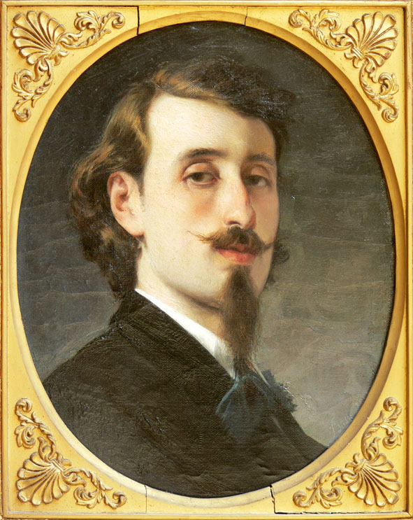 Luigi Busi (Bologna, 1837-1884), Autoritratto, 1860. Bologna, Fondazione Collegio Artistico Venturoli