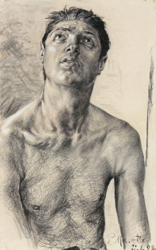 Giovanni Masotti (1873 - 1915), Ritratto maschile, 1892. Fondazione Collegio Artistico Venturoli, Bologna