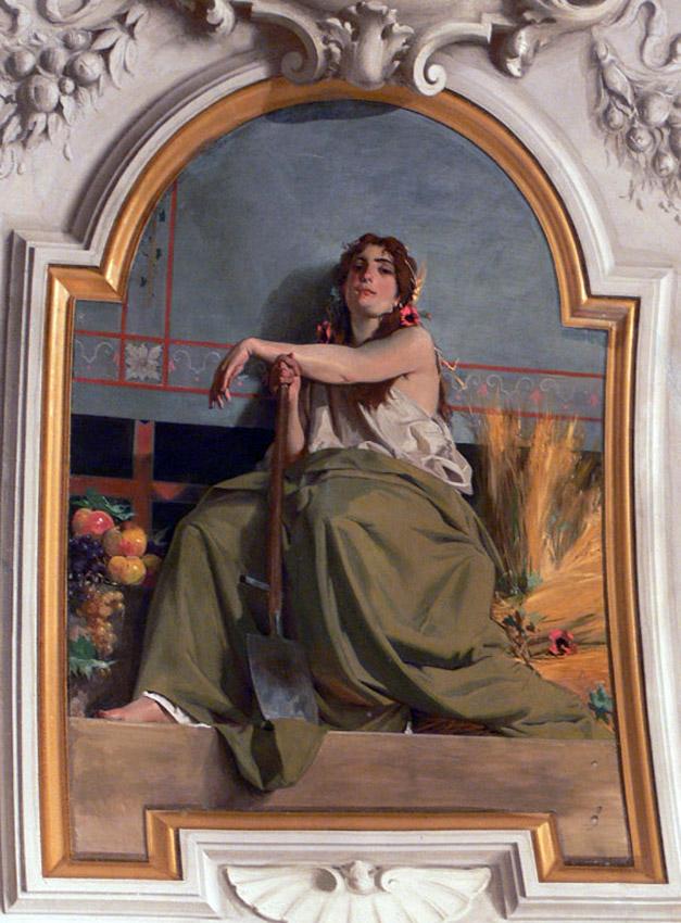 Luigi Busi (Bologna, 1837-1884) Allegoria dell'Agricoltura. Bologna, Sala Rossa di Palazzo Comunale o d'Accursio.