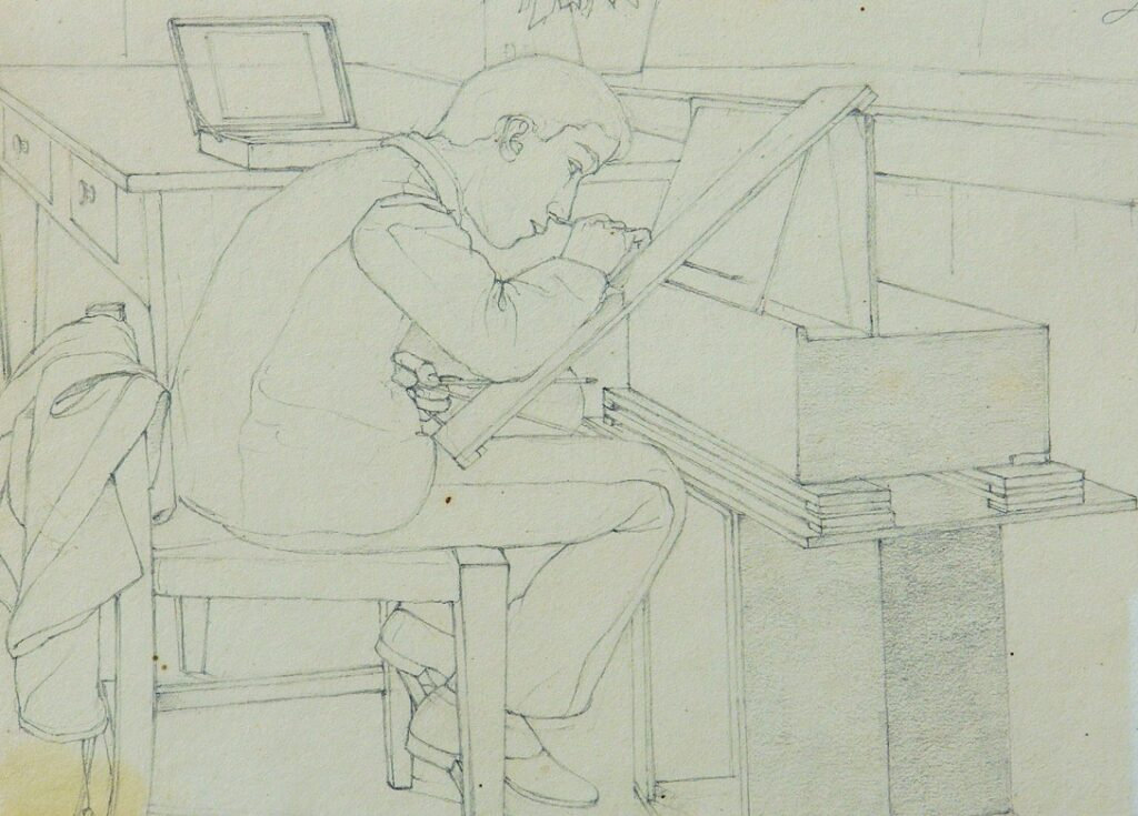 Cleto Capri (1873 - 1965), Allievo del Collegio al lavoro, 1889. Fondazione Collegio Artistico Venturoli, Bologna