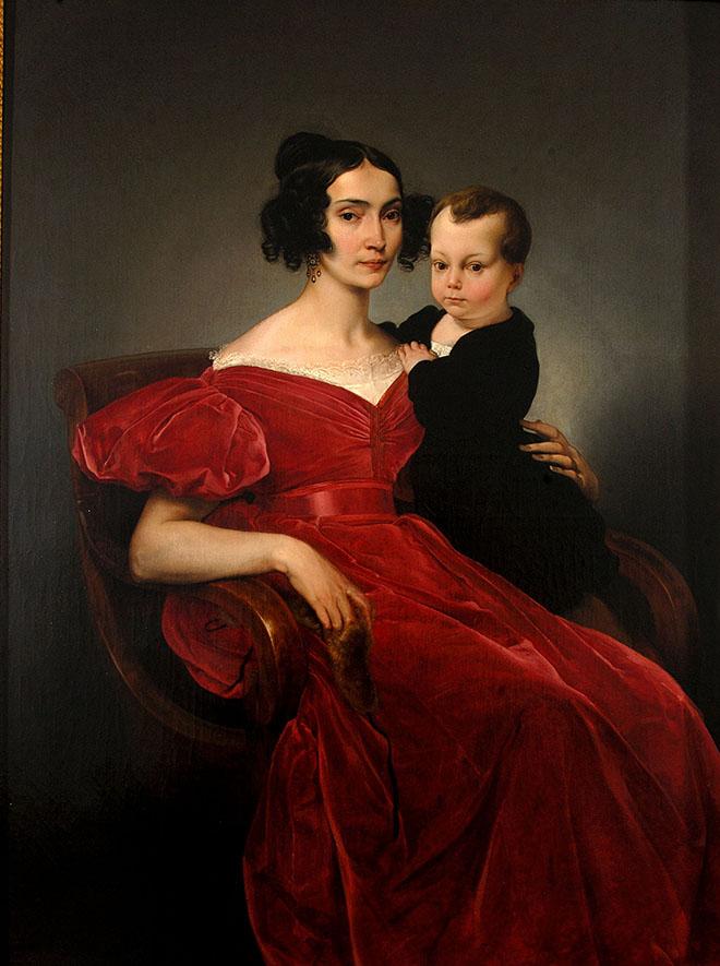 Francesco Hayez, Ritratto della contessa Teresa Zumali Marsili con il figlio Giuseppe, 1833, Museo Civico, Lodi