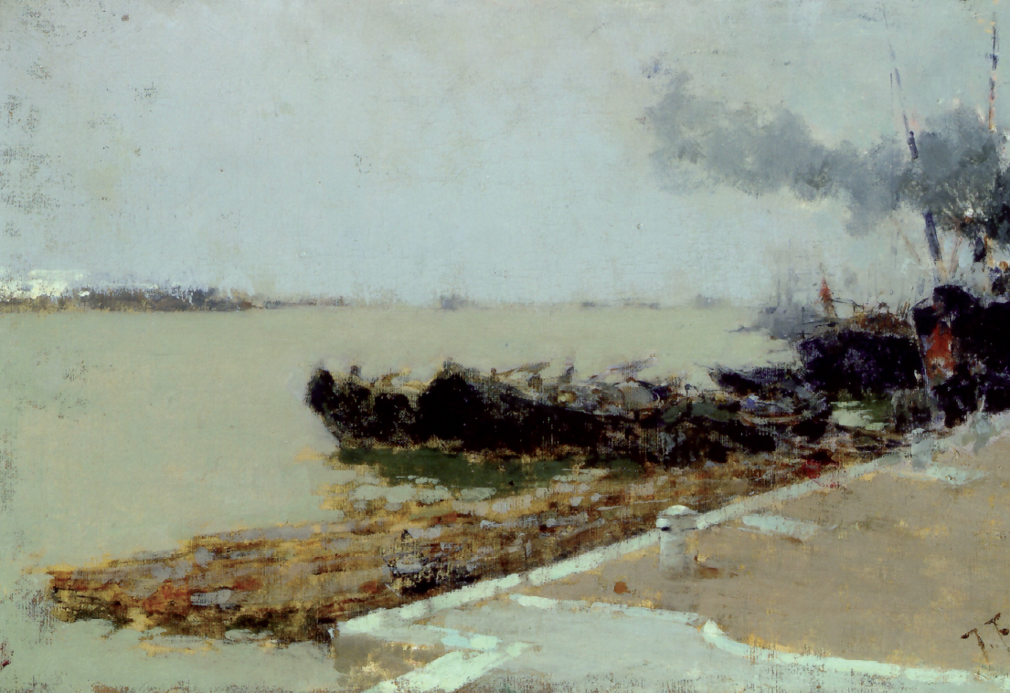 Francesco Filippini, Laguna veneta, 1892 circa