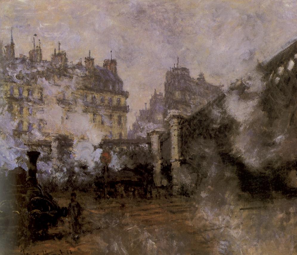 Claude Monet, Il ponte d'Europa, stazione Saint Lazare, 1877