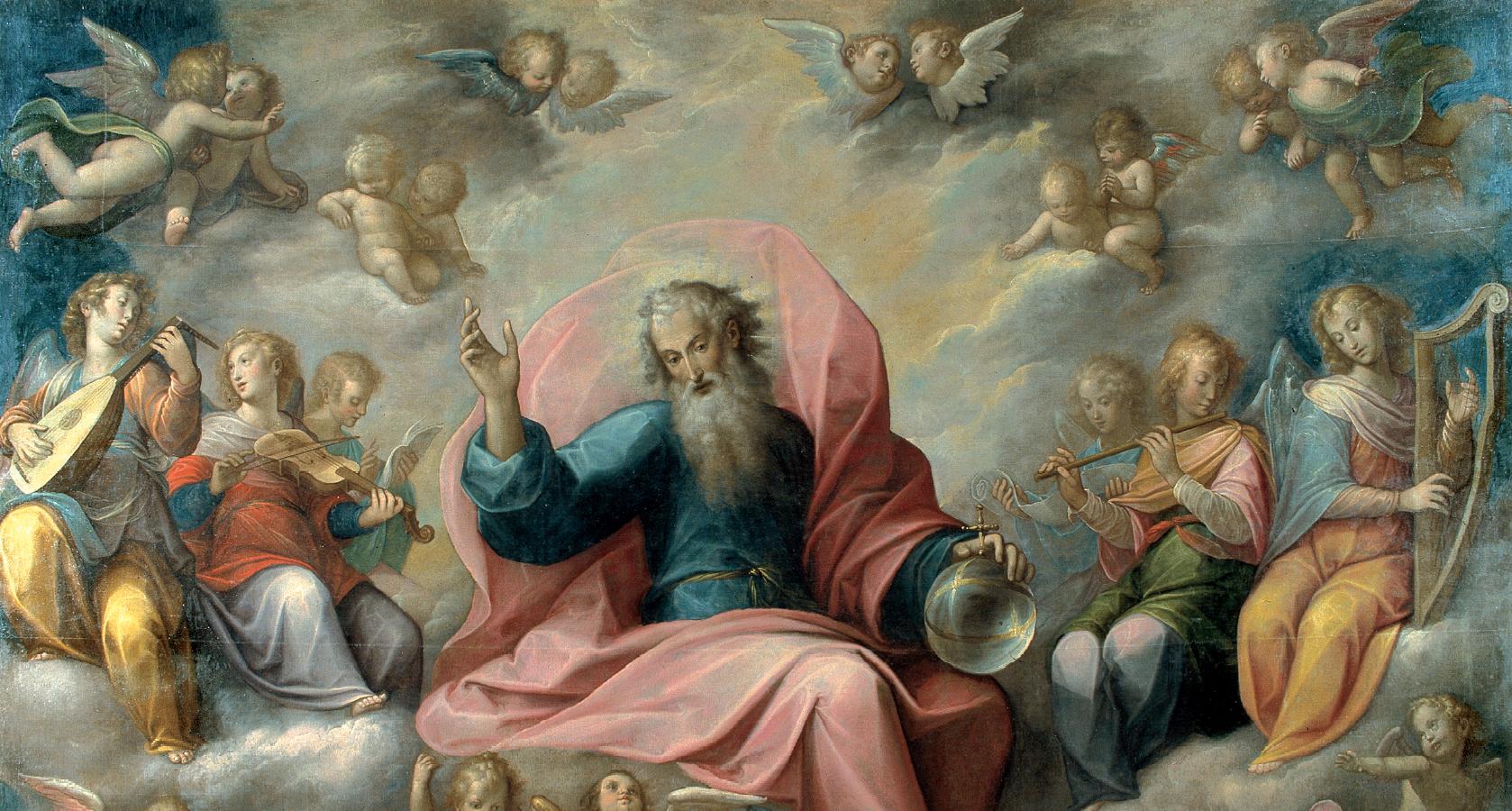 Guglielmo Caccia detto il Moncalvo, Il Padre Eterno in gloria fra angeli