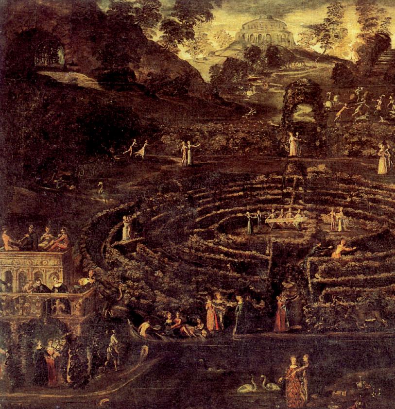 Scuola di Tintoretto, Il labirinto d'amore, 1550-60, particolare