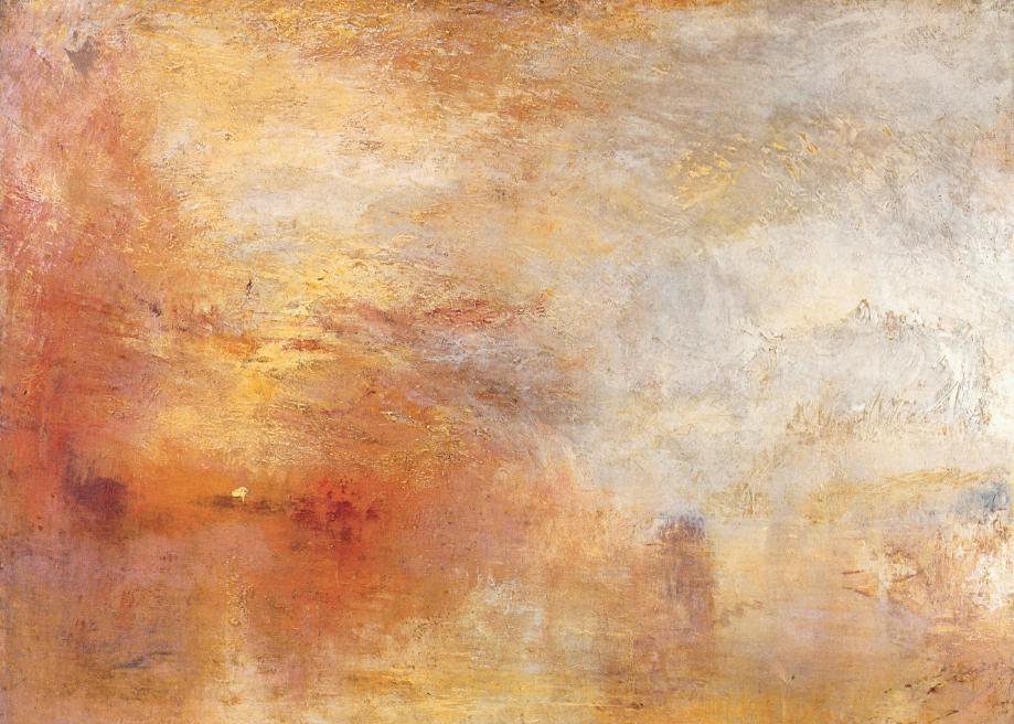 Turner, Tramonto sul lago, 1840 circa
