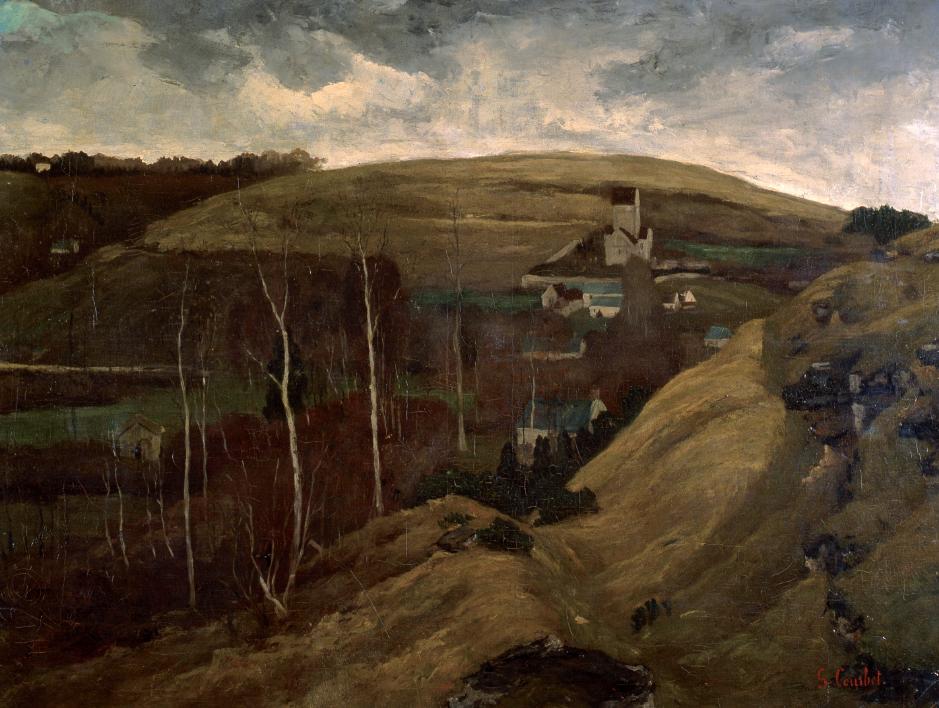 Gustave Courbet, Paesaggio collinare, 1858-1859 circa
