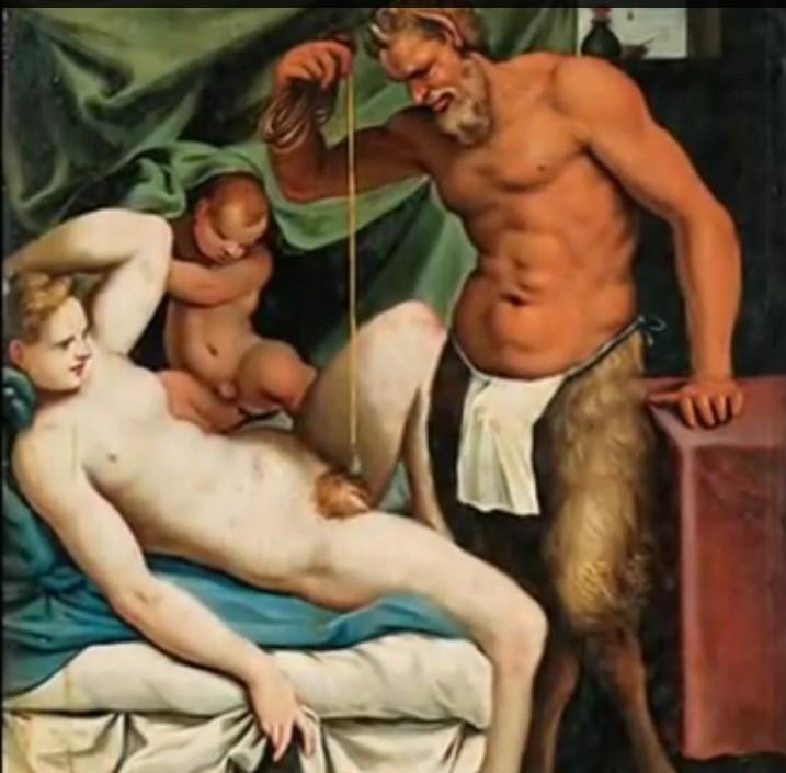 da Agostino Carracci (1557/ 1602), Il satiro scandagliatore