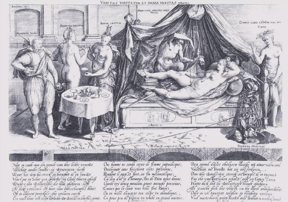 H. WIERIX, Vanitas Vanitatum et Omnia Vanitas, 1578, incisione