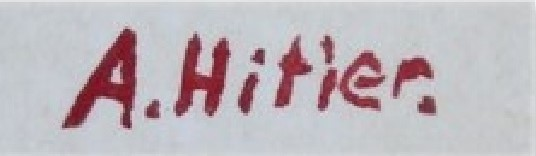 La firma che appare in basso, alla nostra destra, sulla carta dell'acquerello