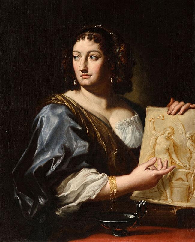Carlo Maratta, Ritratto di Francesca Gommi Maratti, olio su tela, cm. 80 x 60 ca. Spoleto, Fondazione Marignoli