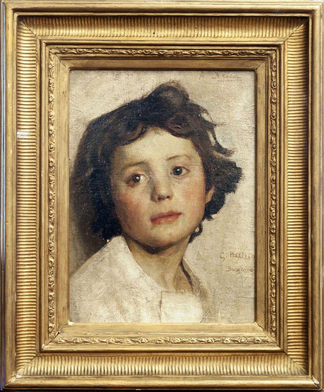GIUSEPPE PELLIZZA DA VOLPEDO, Studio di volto (Ritratto di bambina), 1889, 32,5x43 cm, olio su tela