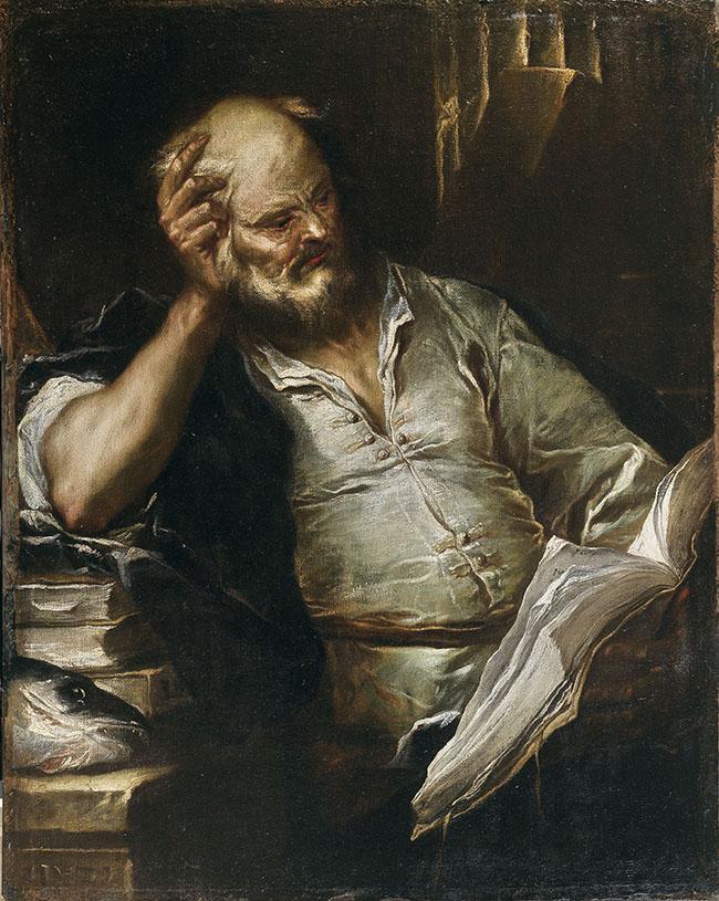 Luca Giordano, Sant'Andrea, olio su tela, cm. 127 x 102. Inghilterra, collezione privata