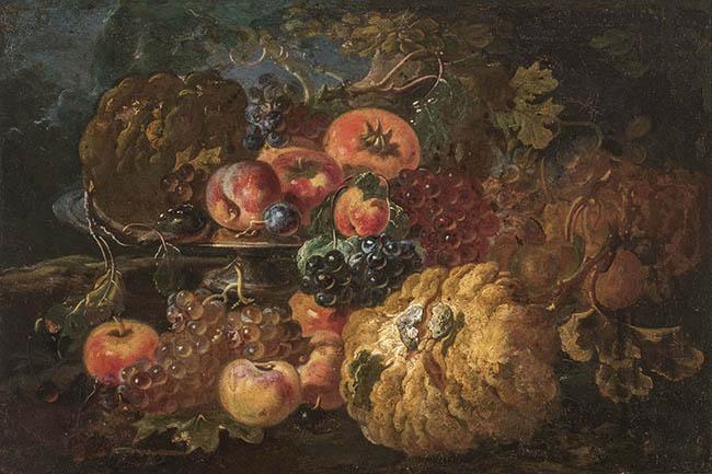 Spadino, Natura morta con frutta e una zucche