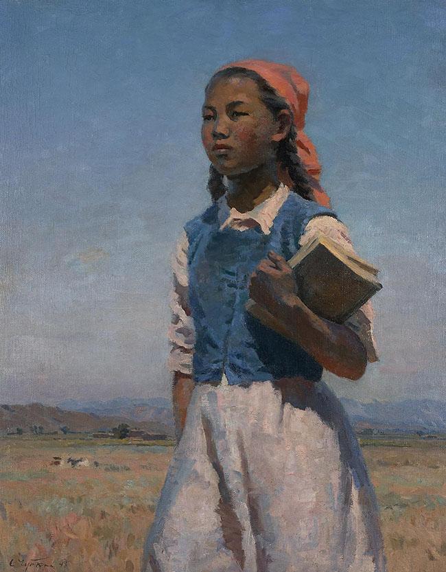 Semën Afanas'evič Čujkov: La figlia del soviet Kirghizia, 1948 Olio su tela, cm 120 x 95 Mosca, Galleria Tret'jakov