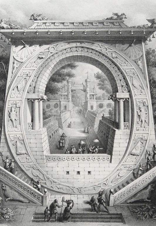 "Antonio Basoli (1774 - 1848), Alfabeto pittorico, lettera ""O"", 1839"