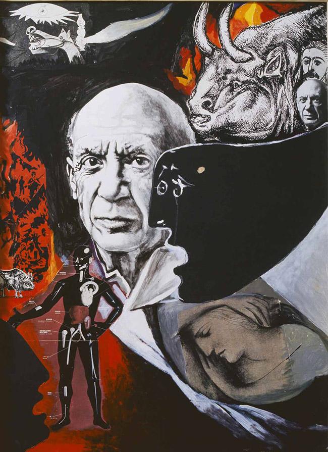 Guttuso Renato, Lamento per la morte di Picasso, 1973