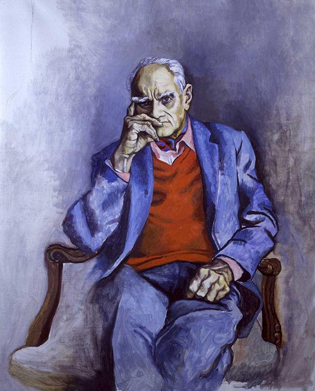 Renato Guttuso, Ritratto di Moravia, 1982
