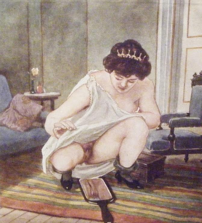 Un'opera pittorica di Gerda che mostra il terrore del pene