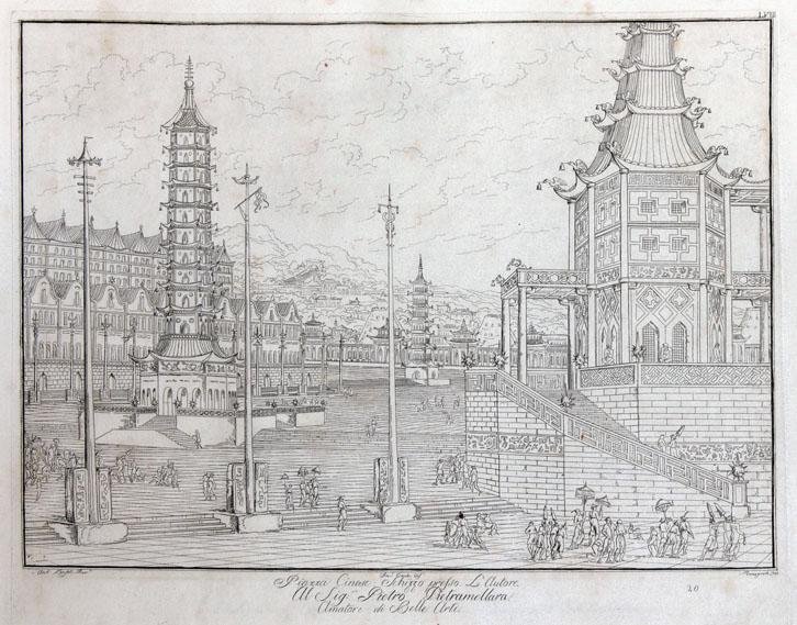 Antonio Basoli (1774 - 1848), Piazza Cinese, 1810