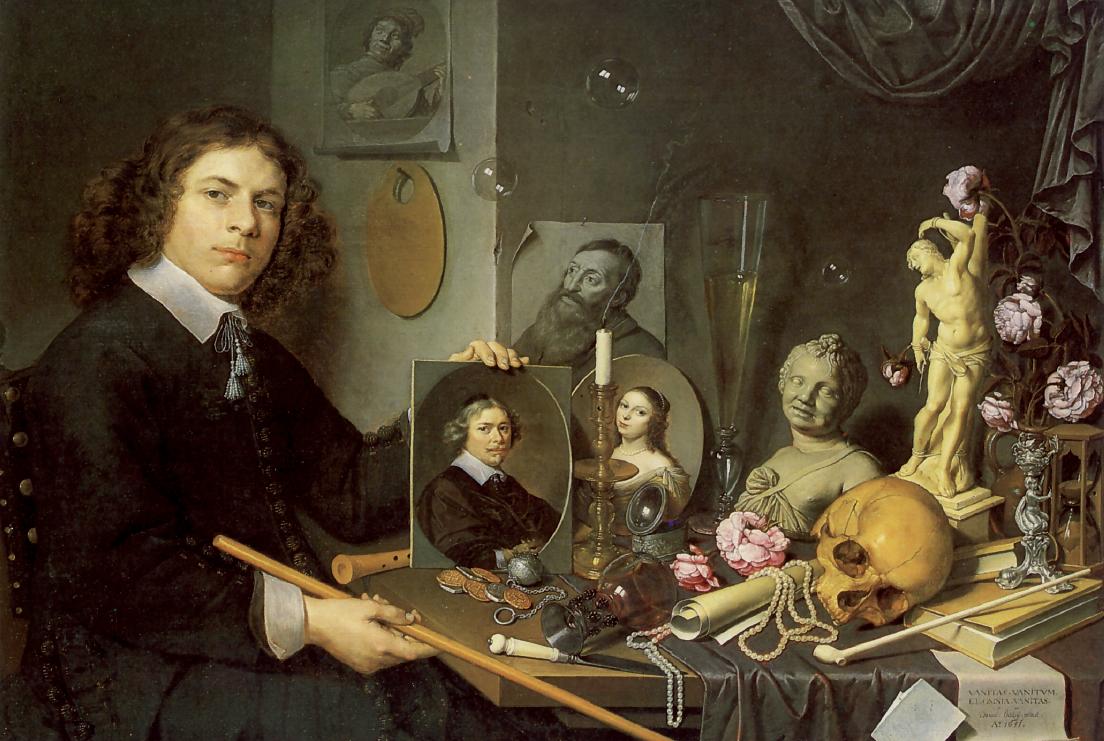 David Bailly, Autoritratto con simboli della vanità, 1651