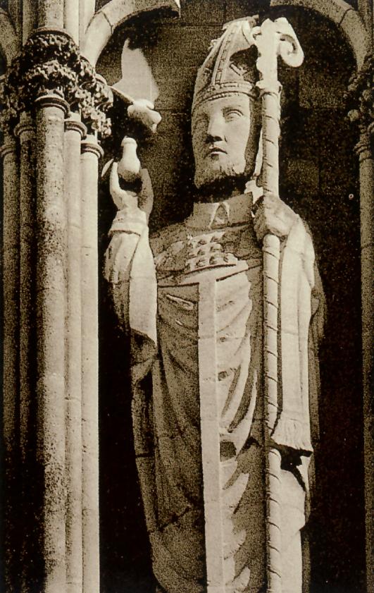 San Remigio si accinge a battezzare Clodoveo, cattedrale di Reims