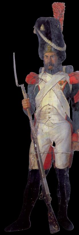 Angelo Inganni, Ussaro, 1830-40 circa. Il dipinto aveva la funzione di stupire e forse intimidire il visitatore del nobile palazzo in cui era collocato, grazie alla sua estrema verità