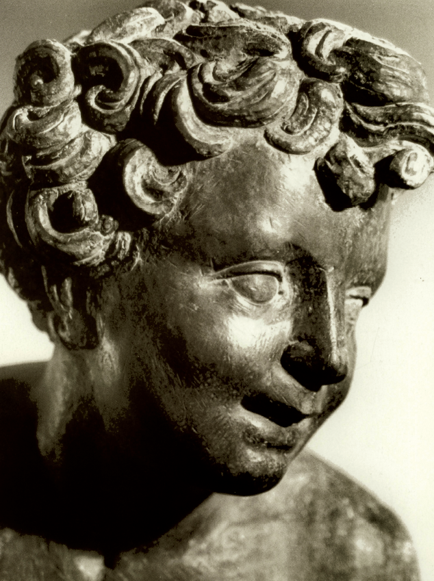 """Pierino da Vinci,  """"Putto della Fontana di Ercole"""" (particolare),  Villa Medici di Castello"""