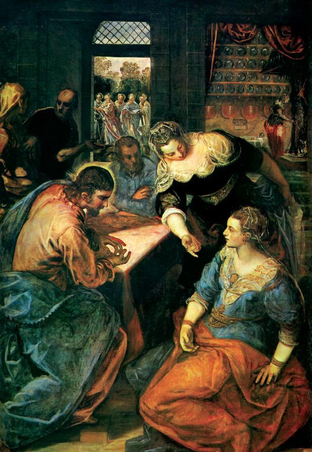 """Jacopo Tintoretto, """"Cristo in casa di Marta e Maria"""""""