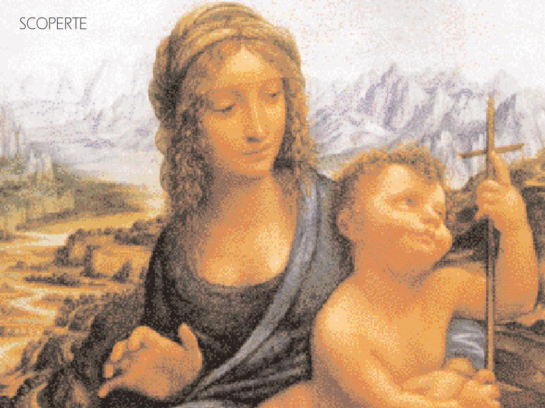 """Leonardo, particolare, """"Madonna dei fusi (Madonna Lansdowe)"""", 1501-1507 circa"""