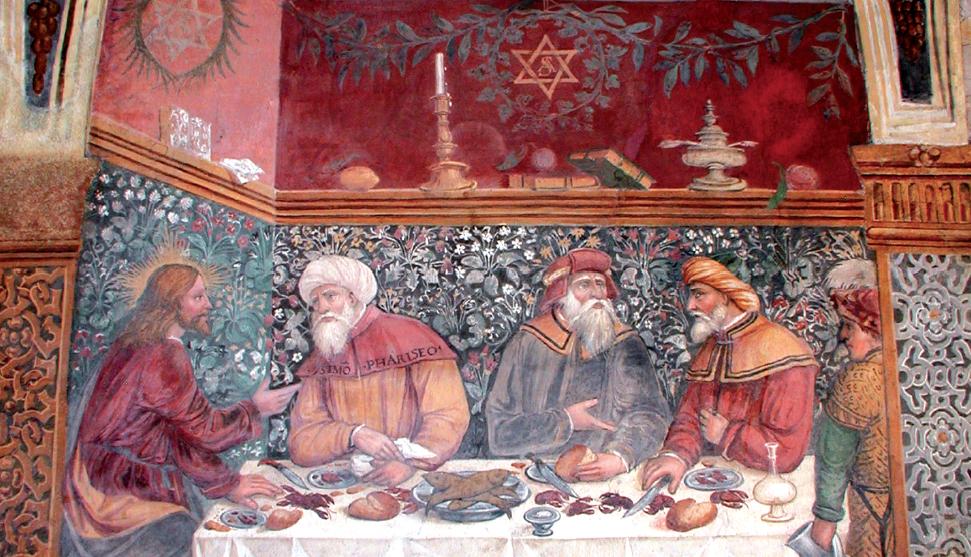 """""""Cena in casa di Simone fariseo"""" , particolare"""