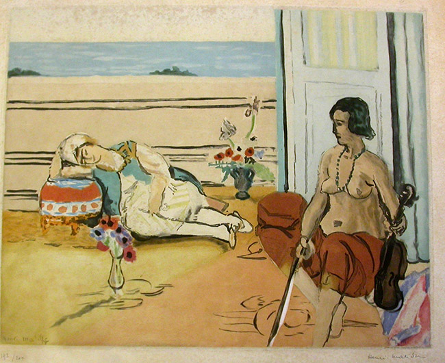 Henri Matisse, Odalisque sur la terrasse, 1922