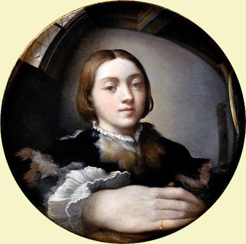 Francesco Mazzola detto il Parmigianino, Autoritratto in specchio convesso (1524 circa)