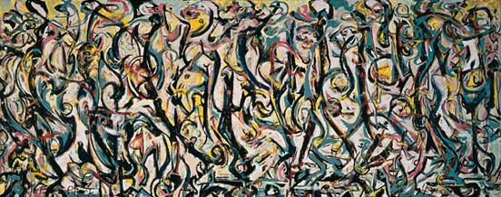 Jackson Pollock, Murale (Mural), 1943, University of Iowa Museum of Art