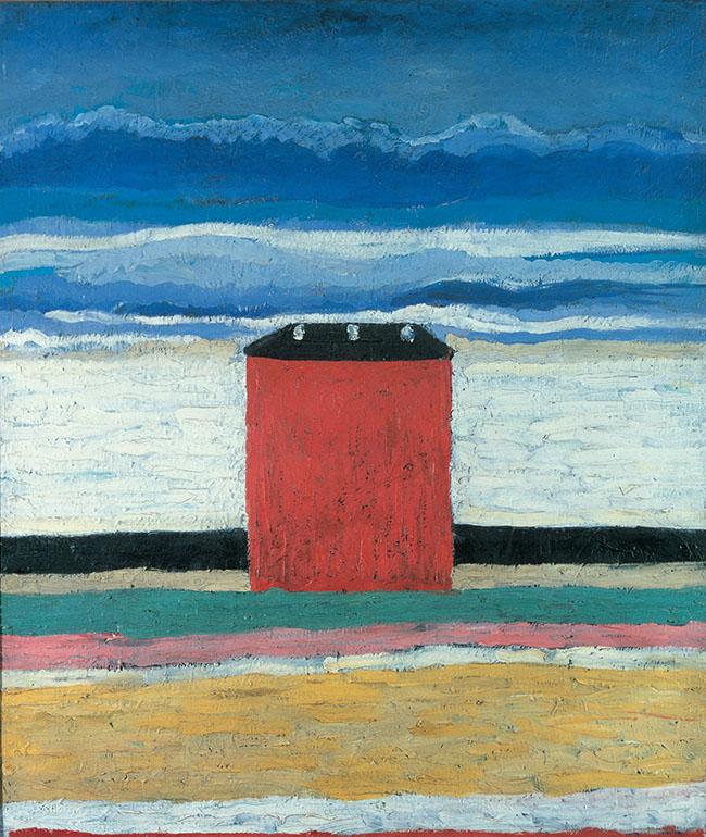 Kazimir Malevič - Casa rossa, 1932 Olio su tela 63 x 55 cm Museo di Stato Russo, San Pietroburgo
