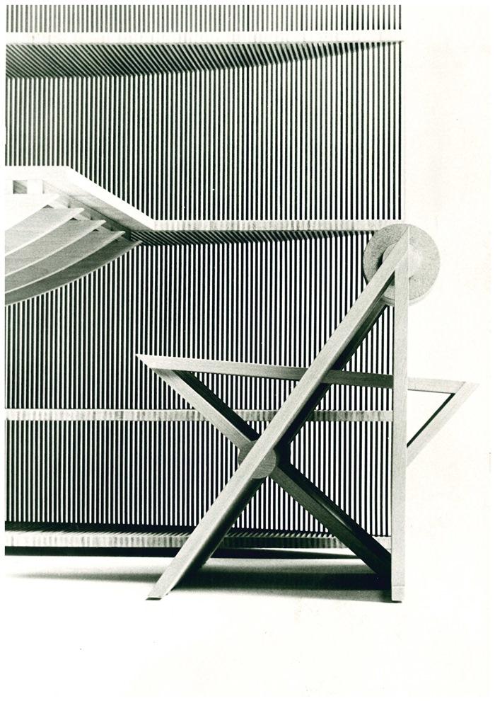 Mario Botta, dettaglio del mobile Trasparenze, 1985
