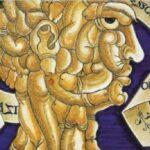 Testa di cazzi, maiolica di Francesco Urbini (1536). Fu tratta da un disegno di Leonardo?